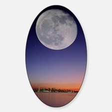 Full moon over Vancouver, Jupiter a Decal