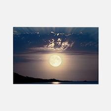 Full moon rising Rectangle Magnet