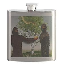 Garden of Eden, computer artwork Flask