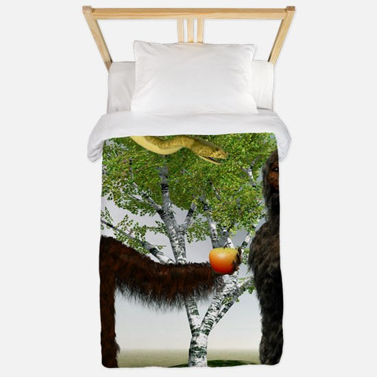 Garden of Eden, computer artwork Twin Duvet