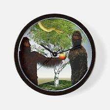 Garden of Eden, computer artwork Wall Clock