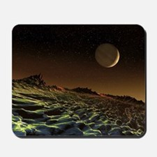Gas giant seen from its moon, artwork Mousepad