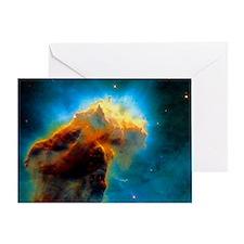 Gas pillars in the Eagle Nebula Greeting Card