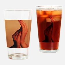 Hands Drinking Glass