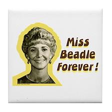 Miss Beadle Forever 2 Tile Coaster