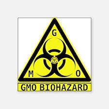 """GMO Biohazard Square Sticker 3"""" x 3"""""""