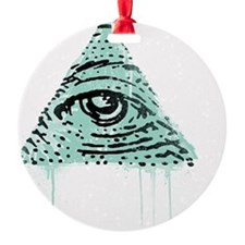 Illuminati Pyramid Eye Ornament