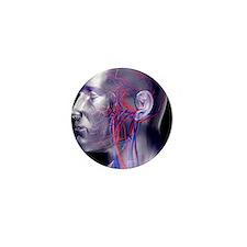 Head blood vessels Mini Button