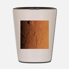 Gusev crater and river, Mars Shot Glass