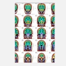 Healthy brain, MRI scans Postcards (Package of 8)