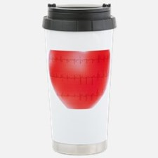 Heart and ECG Stainless Steel Travel Mug