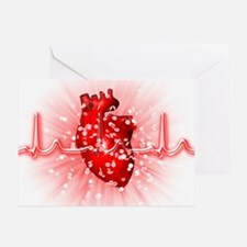 Heart and ECG Greeting Card