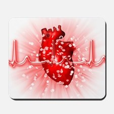 Heart and ECG Mousepad