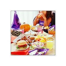 "Hallowe'en party Square Sticker 3"" x 3"""