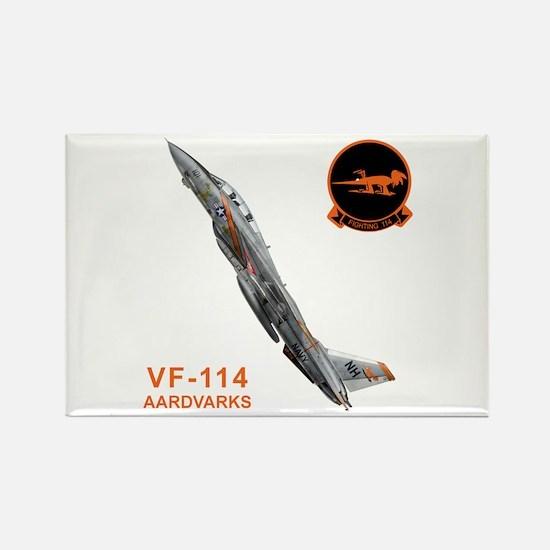 F-14 Tomcat VF-114 Aardvarks Rectangle Magnet