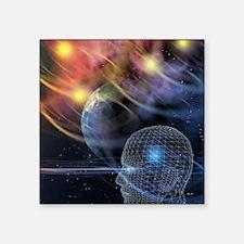 """Head in space Square Sticker 3"""" x 3"""""""