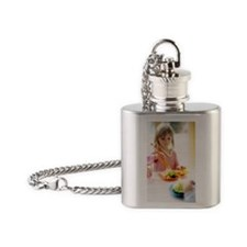 Healthy eating Flask Necklace