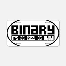 binaryoval Aluminum License Plate