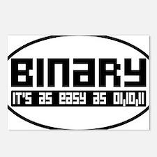 binaryoval Postcards (Package of 8)