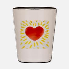 Healthy heart Shot Glass