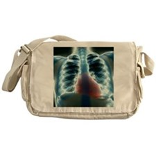 Healthy heart and lungs, X-ray Messenger Bag