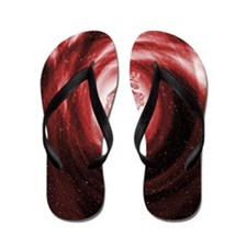 Heart in space Flip Flops