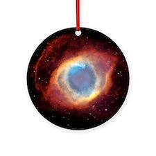 Helix nebula, HST image Round Ornament