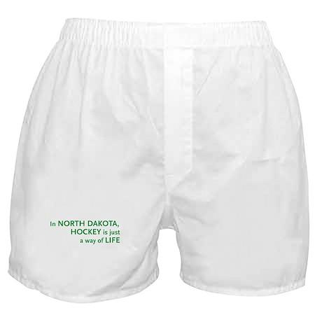 North Dakota Hockey Boxer Shorts