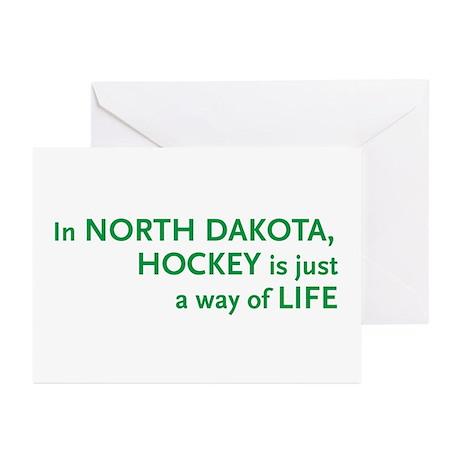 North Dakota Hockey Greeting Cards (Pk of 10)