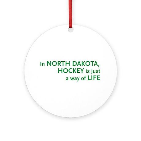 North Dakota Hockey Ornament (Round)