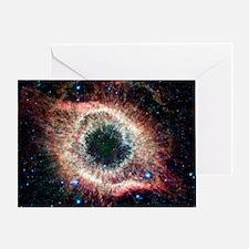 Helix nebula, infrared Spitzer image Greeting Card