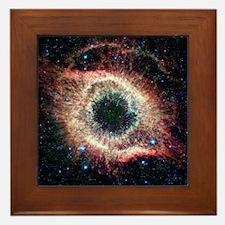 Helix nebula, infrared Spitzer image Framed Tile