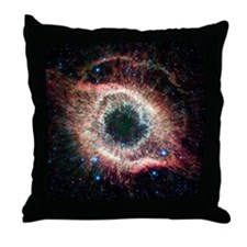 Helix nebula, infrared Spitzer image Throw Pillow