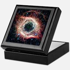 Helix nebula, infrared Spitzer image Keepsake Box