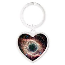 Helix nebula, infrared Spitzer imag Heart Keychain