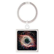 Helix nebula, infrared Spitzer ima Square Keychain