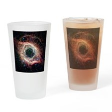Helix nebula, infrared Spitzer imag Drinking Glass