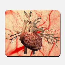 Heart, computer artwork Mousepad