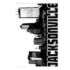 Jacksonville Skyline V Postcards (Package of 8)