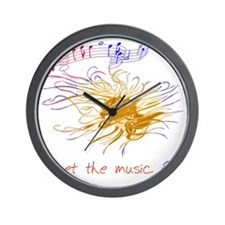 Music, Let the music fly Wall Clock