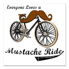 "MUSTACHE RIDE Square Car Magnet 3"" x 3"""