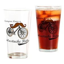 MUSTACHE RIDE Drinking Glass