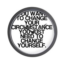 Inspiring, Change Yourself, Wall Clock
