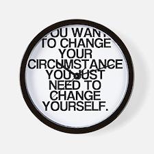 Inspiring, Change Yourself, Wall Clock