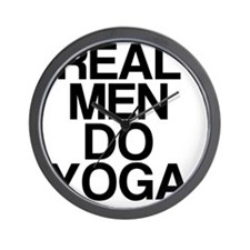 Real Men Do Yoga Wall Clock