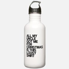 Uncle, Lousy Christmas Water Bottle