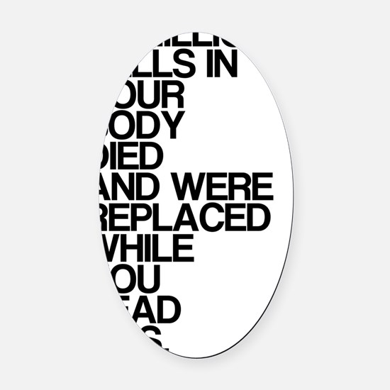 While You Read This, Shocking, Oval Car Magnet