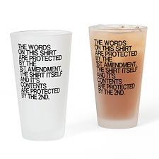 Funny, Pro Gun Rights Shirt, Drinking Glass
