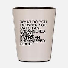 Endangered, Humor, Shot Glass