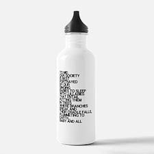 Lullabies, Funny, Water Bottle